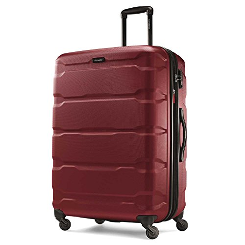 Samsonite Omni PC Hardside Expandable Luggage with Spinner Wheels, Red, Carry-On 20-Inch