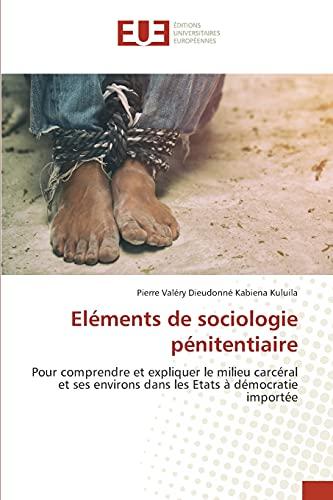 Eléments de sociologie pénitentiaire: Pour comprendre et expliquer le milieu carcéral et ses environs dans les Etats à démocratie importée