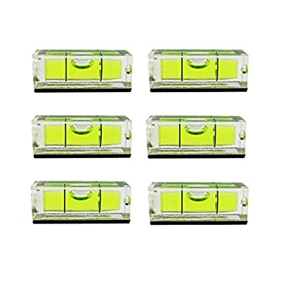6Pcs/Pack Magnetic Bubble Level 15x15x40mm Frame Mural Hanging Mini Square Spirit Level Small Picture Hanging Levels Mark Measuring Instruments Layout Tools