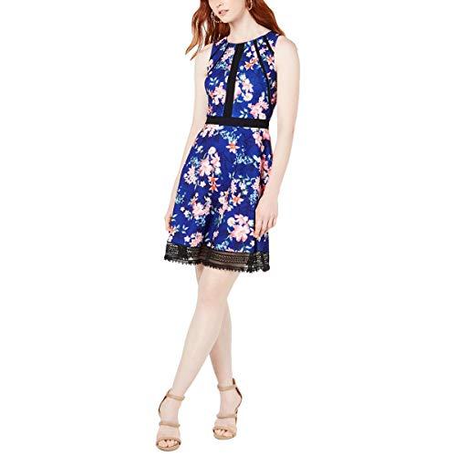 Guess vestido casual con encaje floral para mujer -  Azul -  32