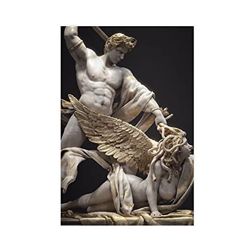 Ancient Greek Mythology Medusa And Perseus Art1 Canvas Poster Wall Art Decor Print Picture Paintings for Living Room Bedroom Decoration Unframe:24×36inch(60×90cm)