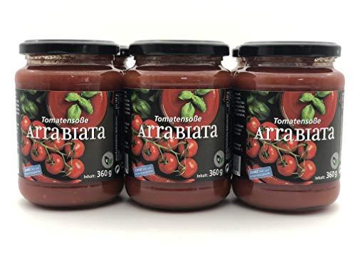 """Tomatensoße """"ARRABIATA"""" by Föhr aus Ravensburg am Bodensee   ohne Farb-, Aroma-, Konservierungs- oder andere künstliche Zusatzstoffe   reine, natürliche Tomaten   (6)"""
