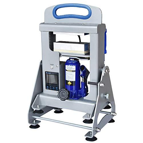 Dulytek DHP7 V3 Hydraulic Heat Press Machine, 7-Ton Pressing Force, Dual Heat 6' Plates, Touch-Screen Panel