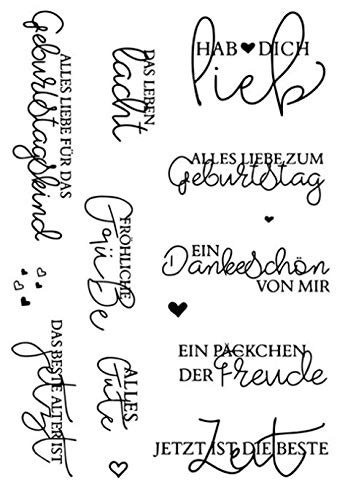 Deutsche Wörter transparent klarer Silikonstempel/Siegel für DIY Scrapbooking/Fotoalbum dekorative klare Stempel W1422