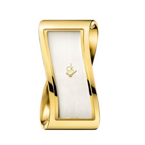 Calvin Klein Calvin Klein Pensive K1T24501 PVD Gold, Gr. S - Reloj analógico de Cuarzo para Mujer, Correa de Acero Inoxidable Color Dorado