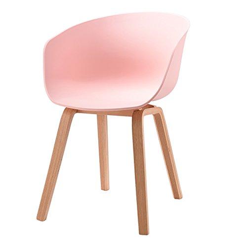 MENA Uk Designer Stuhl Sessel Stativ Hochwertiger Bent Wood Panton Designer PP Stuhl (Farbe : Pink, größe : H75cm)