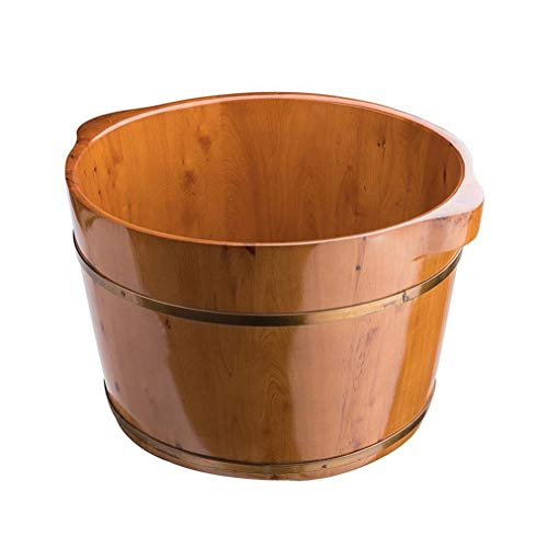 Fußbadewanne,Holz Sauna Eimer,Hochwertiges Sauna Fußbecken,Innen Und Außen Hygieneversiegelung Fuß Badewanne (Color : A)
