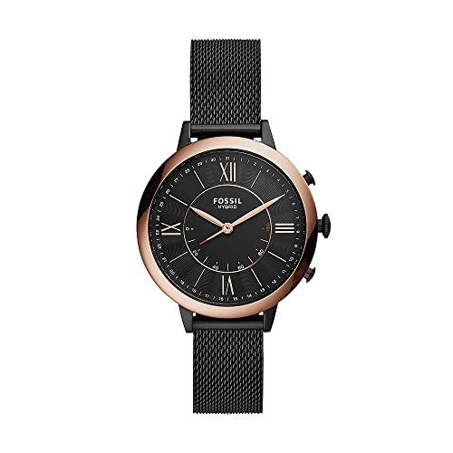 Fossil Smartwatch Híbrido para Mujer de Connected con Correa en Acero Inoxidable FTW5030
