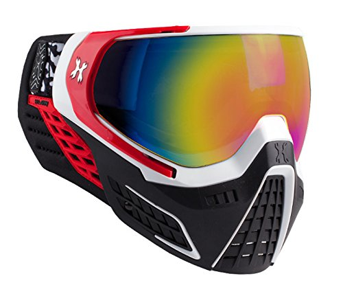 HK Army KLR Goggles - Scorch - White/Red w/Fusion Mirror Thermal Lens
