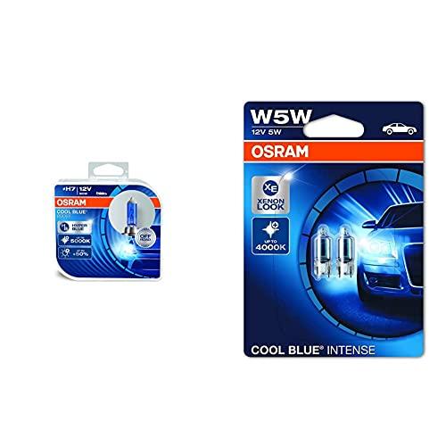 OSRAM 62210Cbb Cool Blue Boost H7, Lampadina Alogena Iper Blu Per Faro ,12 V, Duobox (2 Unita) & 2825Hcbi-02B Cool Blue…