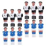 POPETPOP 12 Piezas de Mesa de Fútbol Jugador de Fútbol de Mesa de Hombres de Mesa de Fútbol de Mesa Mini Humanista Pla- Stic de Mesa de Jugador de Fútbol Piezas de Repuesto para Juego de