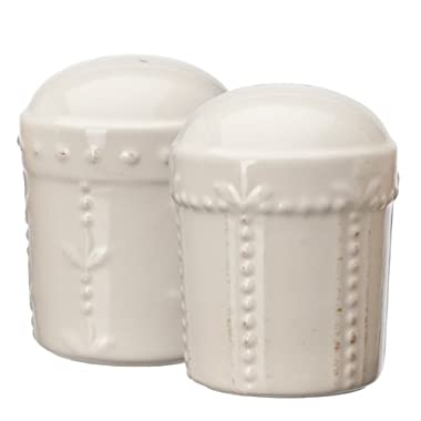 Signature Housewares Sorrento Collection Salt and Pepper Shakers, Ivory