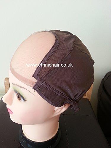 Jagazi Large Snuggle Glueless Full Lace Wig Making Cap. Wig Cap. Weaving Mesh Net With Adjustable Strap by Jagazi Naturals
