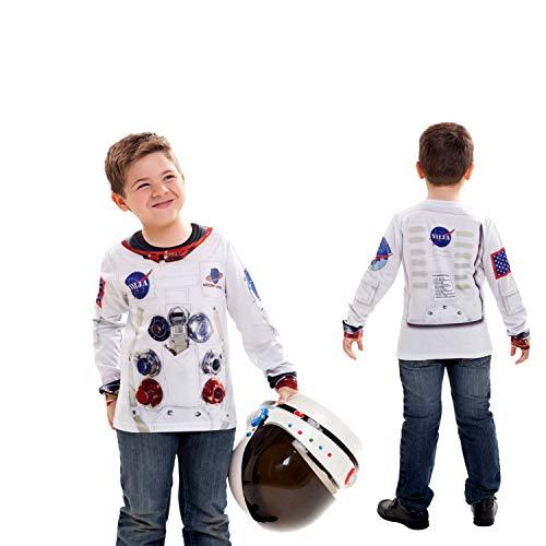 Viving Kostuums Astronaut T-shirt met lange mouwen 231061 tuintafel (6 - 8 Years, One Size) Multi kleuren