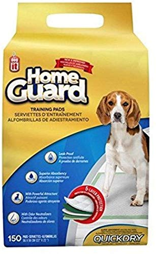 Dogit Training Pads for Dogs, Super Absorbent Quilted Puppy Pad with Quickdry Technology, Medium, 150 Pack