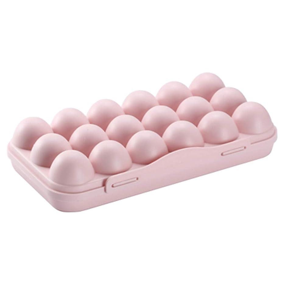 ブラインド世界に死んだオープニング卵 ケース エッグ携帯ケース 折りたたみ 収納 トレイ ボックス たまご ホルダー 玉子キャリーケース クリア 冷蔵庫用 卵入れ 収納ホルダー (ピンク)