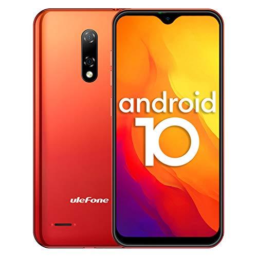 Cellulari 4G, Ulefone Note 8P Smartphone 16GB ROM 2GB RAM, 5,5  FW+ Schermo Waterdrop, con Doppia SIM e Riconoscimento Facciale, GPS, Android 10-Arancio