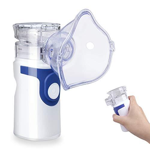 Mini humidificateur à vapeur portable pour adultes et enfants Gris (bleu foncé)