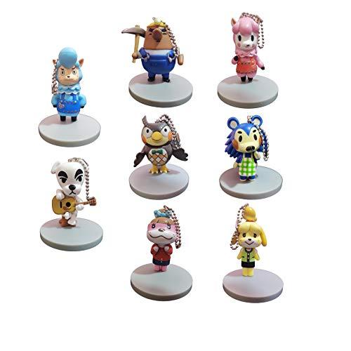 Juego llaveros Animal Crossing Llavero Juego de 8 Piezas Animal Crossing Llavero Colgante Charm Animal Crossing Asociación de Amigos Bolso Ciego Hecho a Mano Pequeño Colgante Accesorios Periférico