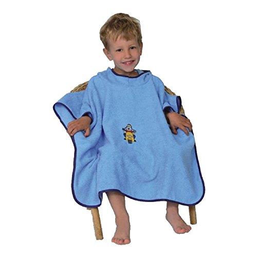 WÖRNER Gant de bain Poncho bébé bébé 120 x 75 cm versch. Designs - Multicolore -