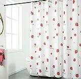 JOVEGSRVA Cartoon Erdbeer Schimmel Proof Stoff Duschvorhang Für Bad Wasserdichter Badvorhang Badvorhang Mit 12 Haken