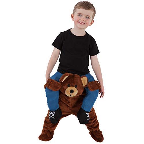 Morph Teddybär Huckepack Kostüm für Kinder, Halloween und Karneval - Einheitsgröße