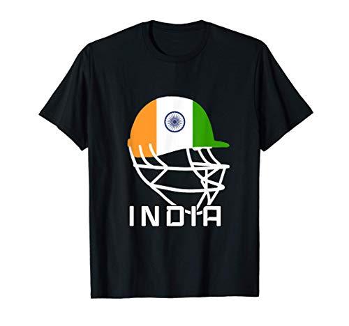 India Cricket Fan Jersey Helmet Indian T-Shirt