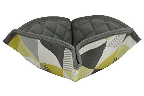 McAlister Textiles Copenhagen Kollektion | Vita Brotkorb mit geometrischem Muster in Ockergelb | Skandinavischer Stil Brotkörbchen aus Stoff