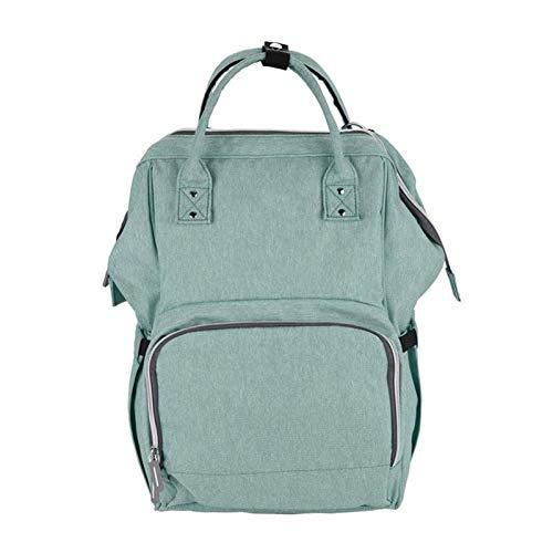 HEMFV Windelbeutel-Rucksack, Baby-Windel-Reisetasche, große Kapazität Multifunktionsmode Mommy-Krankenpflege-Tasche (Color : Green)