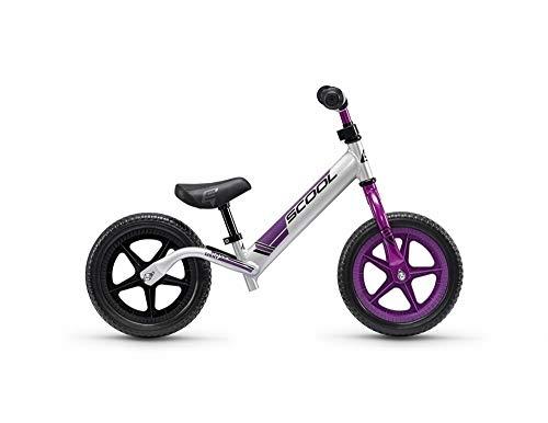 S'Cool pedeX race light Kinder Laufrad 2018 (One Size, anodized silver/purple)