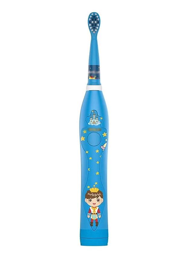 社会学ユーモラス赤外線超音波電動歯ブラシ、3スピード調整インテリジェントUSB充電、IPX7防水機能、輸入デュポンソフトブラシ (Color : Blue)