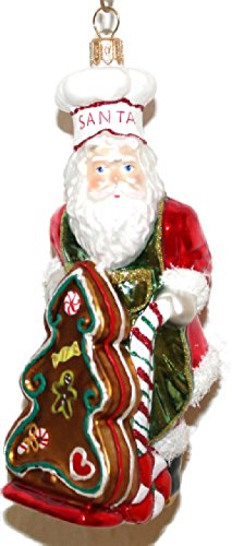 Weihnachtsmann Lebkuchen Pfefferkuchen Lieferung Weihnachtskugel Christbaumschmuck Glas mundgeblasen handbemalt