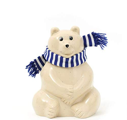 Polar Bear Money Box (シロクマ 貯金箱)マフラー付き 人気 話題 おしゃれ ギフト プレゼント