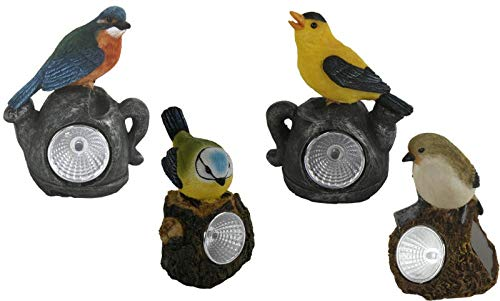 Topshop24you 1 x wunderschöne LED Solar Leuchte,Solarlampe,Solarleuchte Vogel Größe ca.11 cm