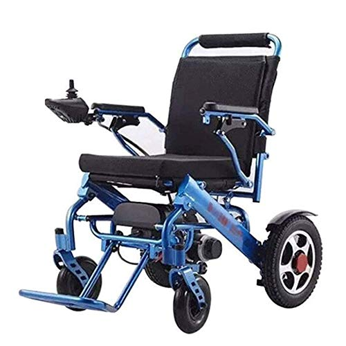 LIRUI lichte elektrische rolstoel rolstoel, open en snel inklapbaar, duurzaam, veilig en eenvoudig te rijden, rolstoelen, blauw voor oudere vetlijvige mensen