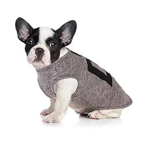 PUMYPOREITY Cotton Hundekleidung Hunde-T-Shirts Kleidung, Baumwollhemden Weich und Atmungsaktiv, Katze Sommer Haustier ärmelloses T-Shirt Sweatshirt für Hunde kleine mittelgroße(Grau, XS)