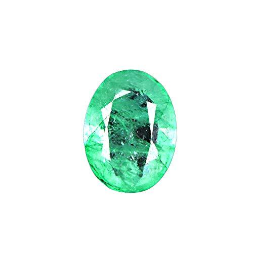 GEMHUB Esmeralda verde con forma de esmeralda certificada, 3,95 quilates, piedra natural de corte brillante para hacer pendientes y pendientes.