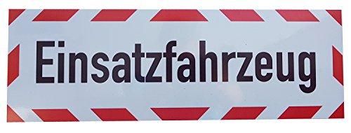 UvV Kfz reflektierendes Magnetschild | Schild magnetisch | Einsatzfahrzeug TüV geprüfte Magnetfolie bis zu 200 kmh (60 x 20 cm)