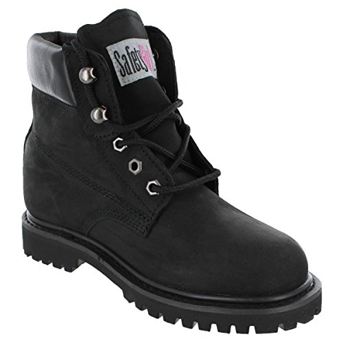 Safety Girl GS004-BLK-7.5M Safety Girl II Soft Toe Work Boots - Black - 7.5M, English, Capacity, Volume, Leather, 7.5M, Black ()