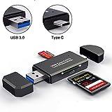 WRX USB3.0 SDメモリーカードリーダー USBマルチカードリーダー 多機能 超高速データ転送 小型軽量 変換アダプタ SD OTG SD/Micro SDカード両対応 Type-C/ USB接続 Macbook Pro, MacBook 2017/2016, iMac 2017, Samsung S9/S9 Plus/S8/S8 Plus/Note 8/Note 9/Galaxy Tab S3などの機種に対応 (WRX USB3.0)