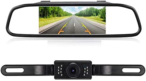 Backup Camera and Monitor Kit for Car Pick Up Truck Suv 150 Wide View License Plate Rear View product image