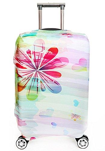 Waschbare Reisegep?ck-Abdeckung Myosotis510 3D Blumen-Koffer-Schutz passt zu 18-32 Zoll Gep?ck