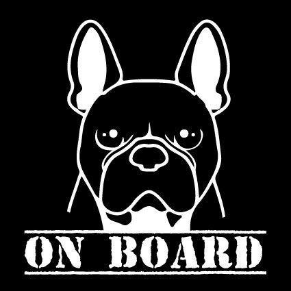 myrockshirt Französische Bulldogge on Board Hund Hunderassen 20cm Aufkleber Autoaufkleber Profi-Qualität ohne Hintergrund Sticker UV&waschanlagenfest