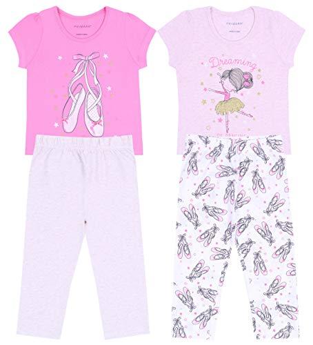 PRIMARK Oeko-Tex 2X Ballerina-Pyjama in Pink und Beige 2-3 Jahre