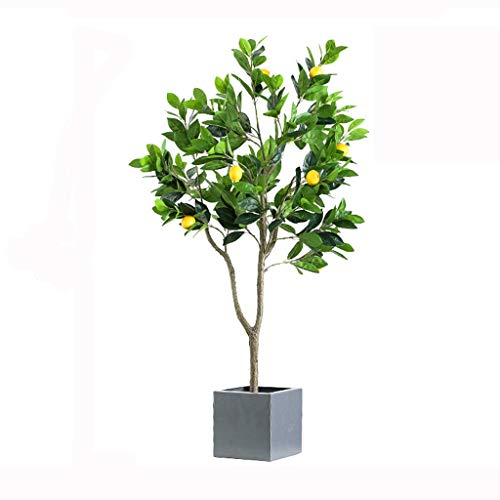 Kiter Simulation tree 3.6 Ft/5ft Artificial Lemon Trees In Pots, Artificial Tree Fake Plant For Home House Office Garden Indoor Outdoor Decor Gift Artificial Trees (Size : 119cm)