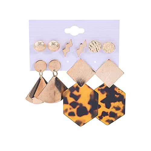 1 pieza de pendientes de tuerca para mujer, diseño de leopardo, estilo vintage, con forma de rayo