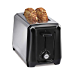Hamilton Beach 22671 2 Slice Toaster, with with Toast Boost, Auto Shutoff, Cancel Button & Shade Selector, Black/Stainless Steel (Renewed)