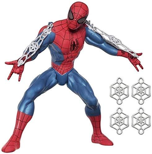 zxwd Avengers 3-10 Pulgadas extraordinario Hombre araña Figura de acción - Boy Juguete del Hombre araña -Joint móvil - platillo Volante del Hombre araña for los niños Regalo de cumpleaños