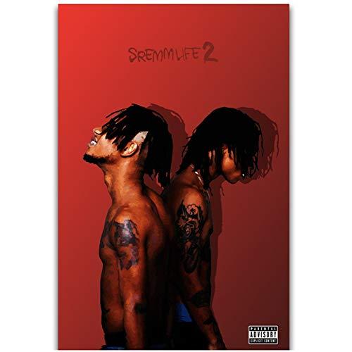 chtshjdtb SremmLife 2 Rae Sremmurd Rap Hip Hop Musikgruppe Album Cover Wandkunst Gemälde Inneneinrichtung -50X70Cm No Frame 1 Pcs