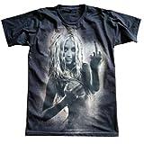 HOPE & FAITH Unisex Christina Aguilera T-Shirt Short Sleeve Mens Womens M Brown